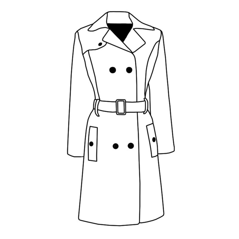 Tweed Trench Coat Made To Order