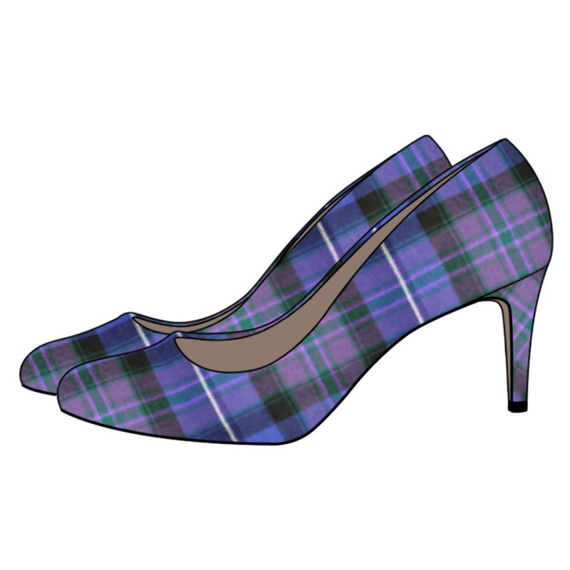 Plaid Court Shoes in Pride of Scotland Modern