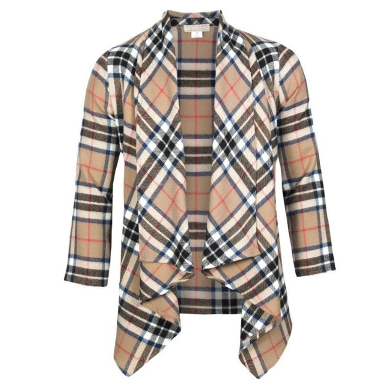 Plaid Kerry Jacket in Thompson Camel