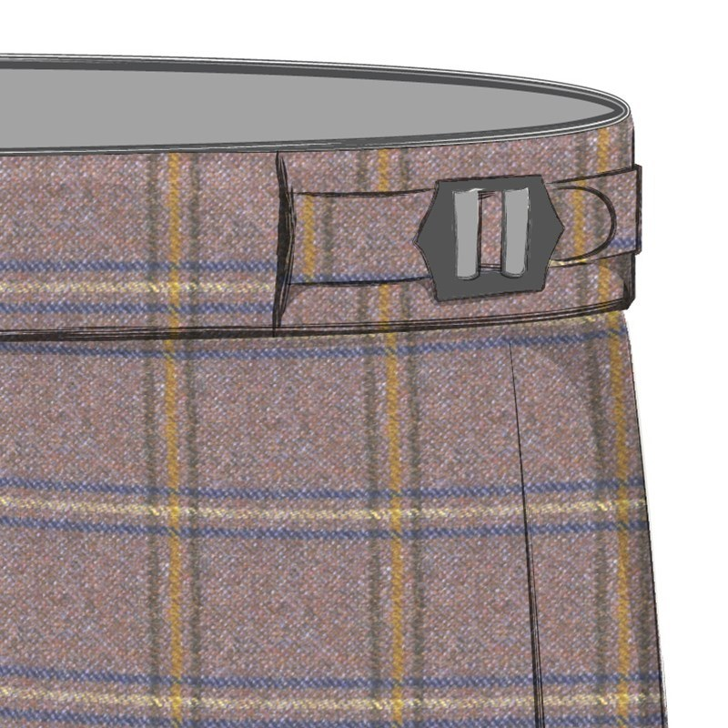 Men's Tweed Pants with Side Adjusters