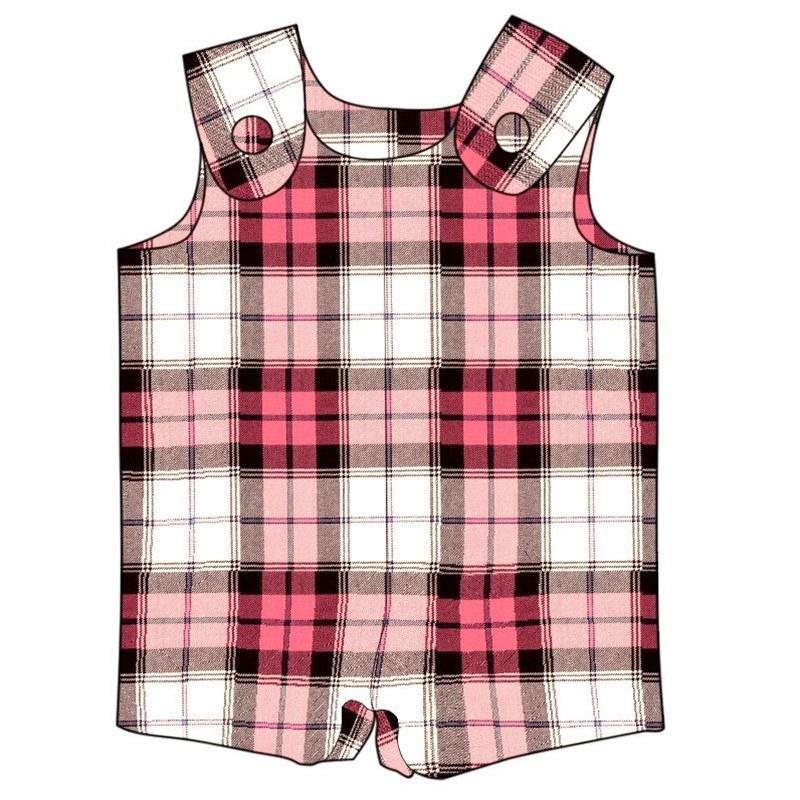 Tartan Romper Suit in Sunart Pink BCH006