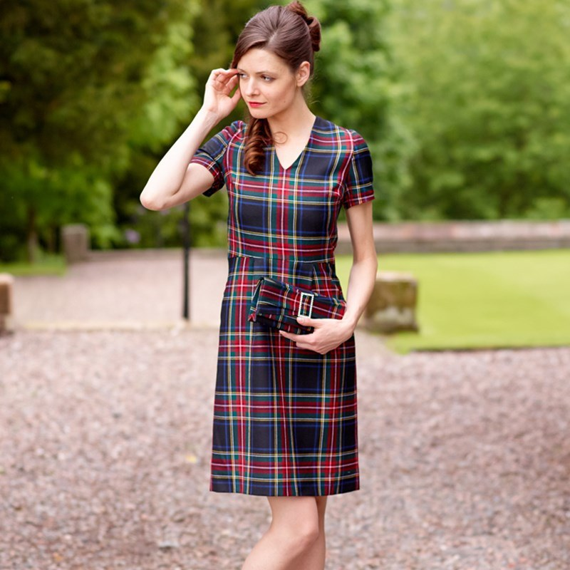 Fitted Plaid Dress