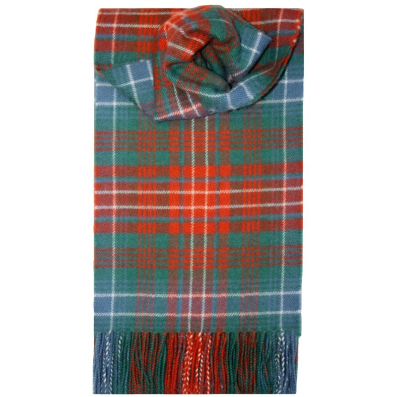 Children's Brushed Wool Tartan Scarf