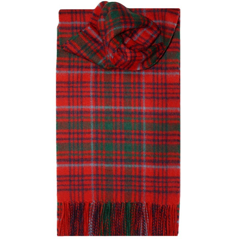 Children's Brushed Wool Tartan Scarf in Grant Modern