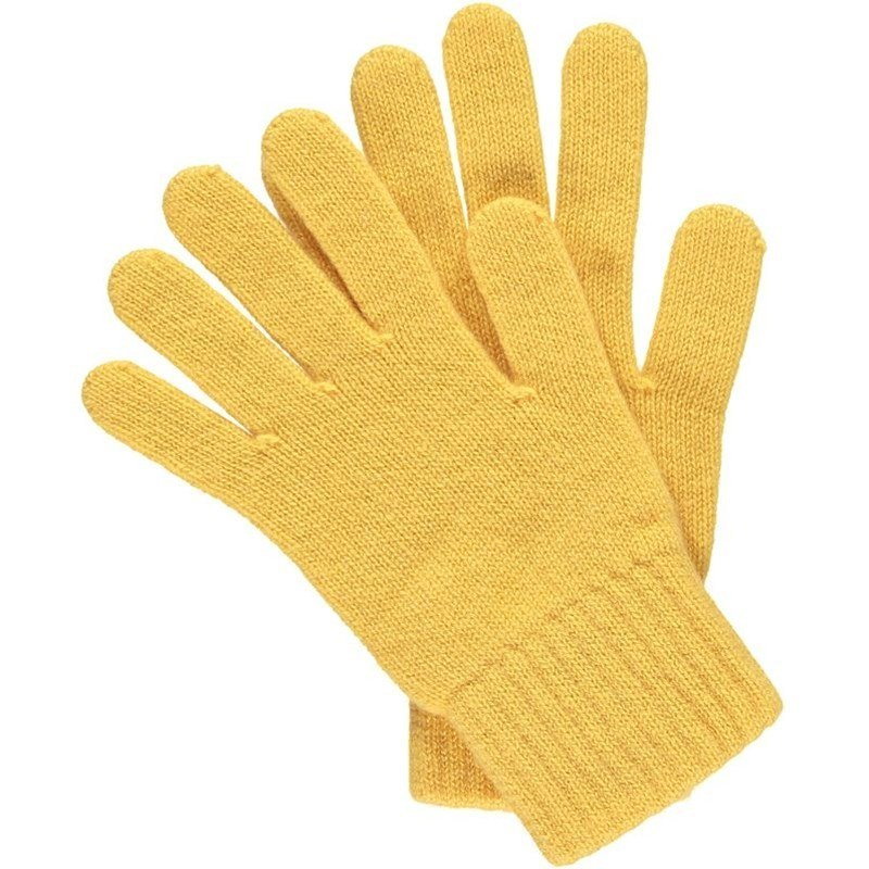 Women's Everyday Cashmere Gloves in Yellow
