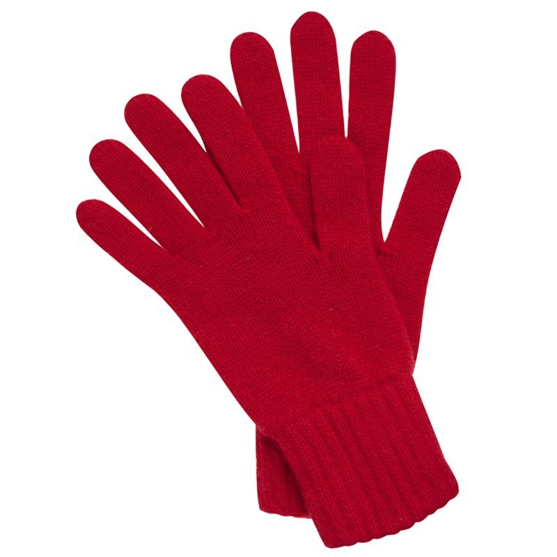 Women's Everyday Cashmere Gloves in Cardinal Red