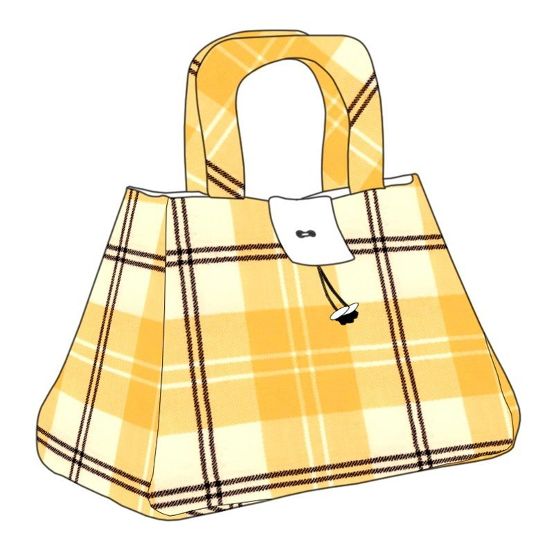 The Muckle Fantoosh Plaid Purse in Ailsa Yellow BCH055