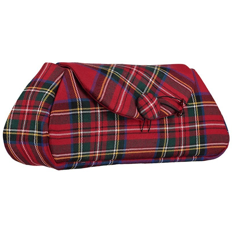 The Muckle Peerie Poak Tartan Clutch Bag in Stewart Royal