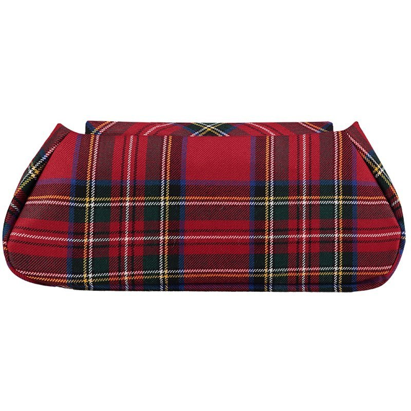 Muckle Peerie Poak Tartan Clutch Bag Reverse