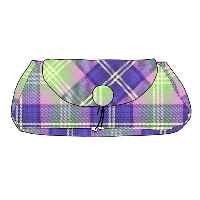 The Muckle Peerie Poak Tartan Clutch Bag in Troon