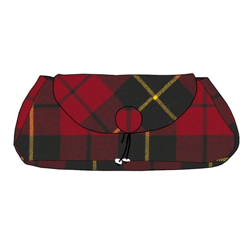 The Muckle Peerie Poak Tartan Clutch Bag in Wallace Modern