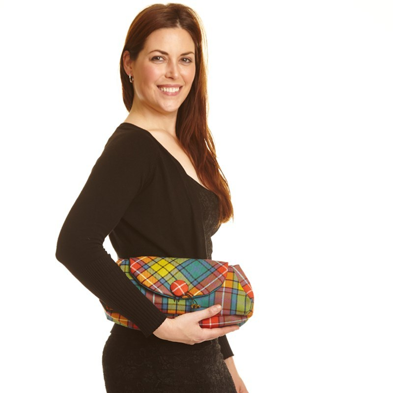 Tartan Clutch Bag Buchanan Ancient