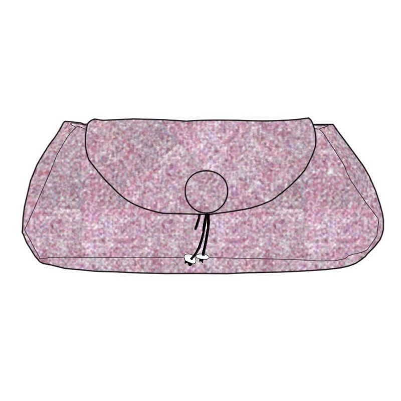 The Muckle Peerie Poak Tartan Clutch Bag in Cheviot Bramble Mulberry (CGE159)