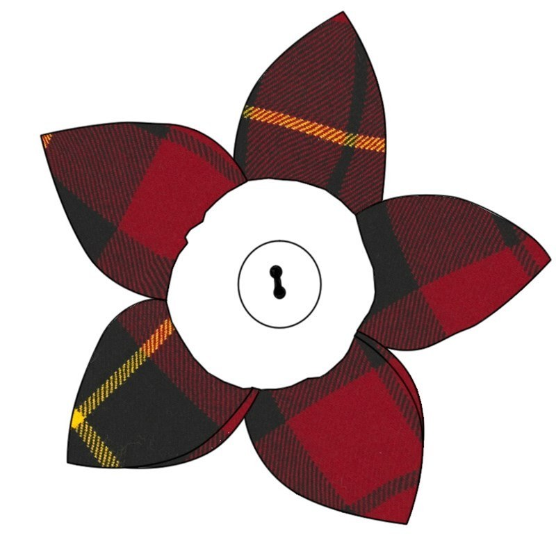 Tartan Petal Brooch in Wallace Modern