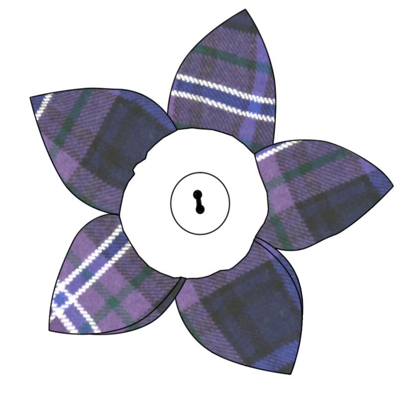 タータン花びらブローチ in Scotland Forever