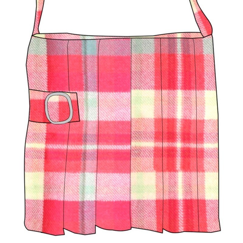 Small Plaid Kilt Bag in Highland Rose