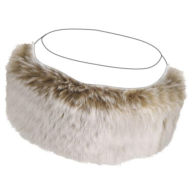 Cappellino in Tartan e Pelliccia Finta