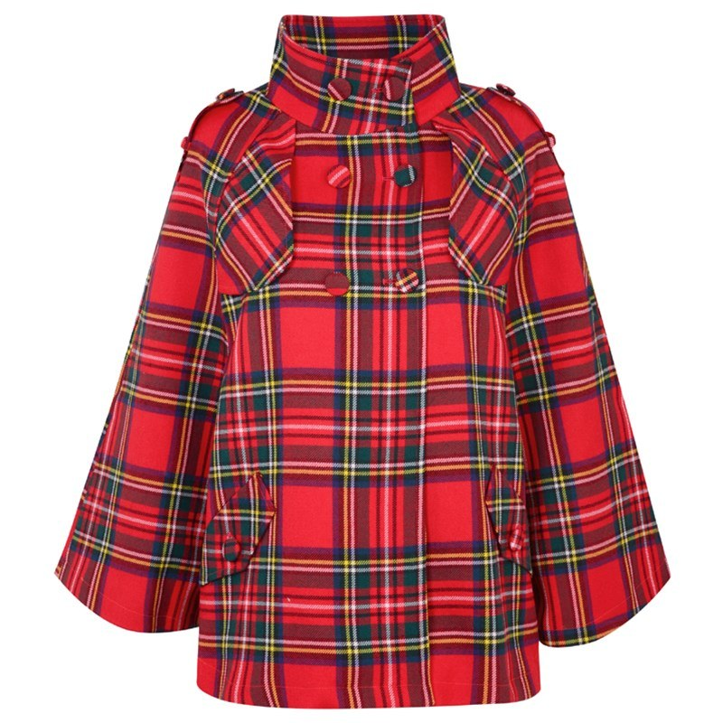 Scottish Plaid Cape