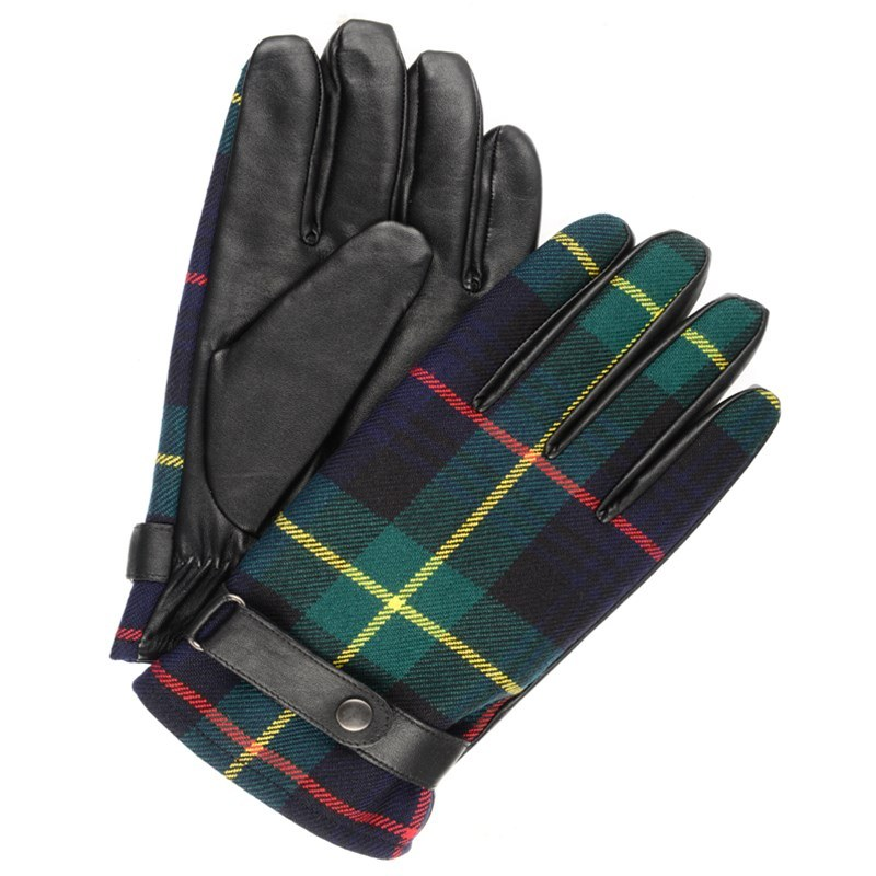 Men's Leather and Plaid Gloves in Farquharson Modern