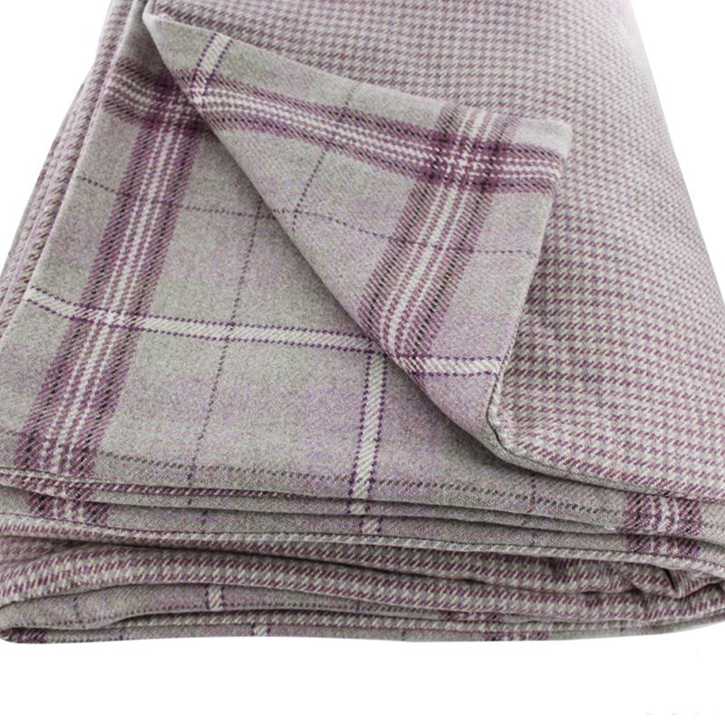 Craigie Hill and Sloane Square Reversible Tweed Throw in Craigie Heather Plaid (CRG306)
