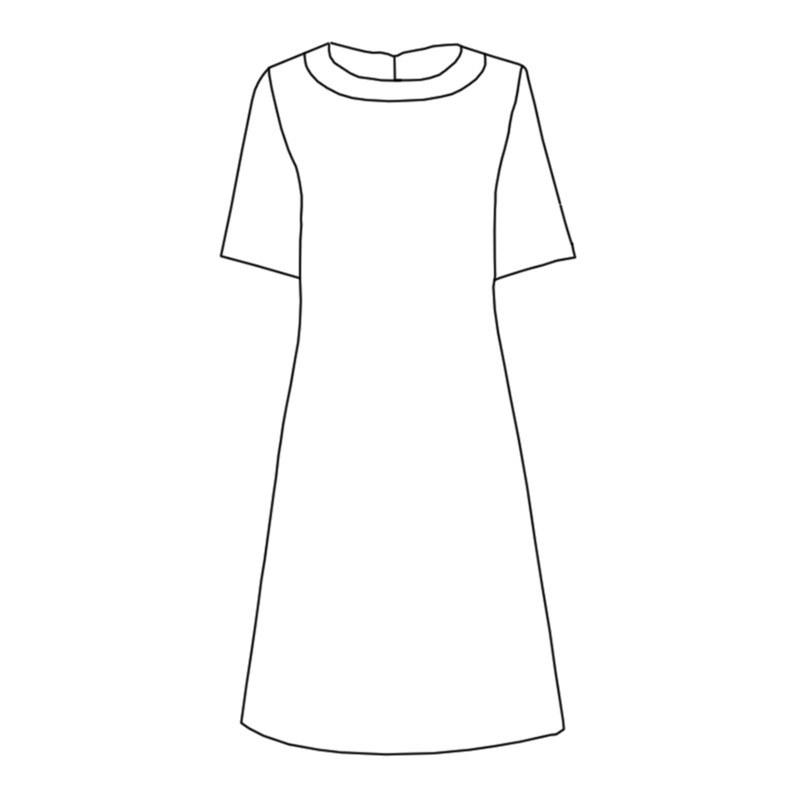 Robe tartan à col rond Made To Order