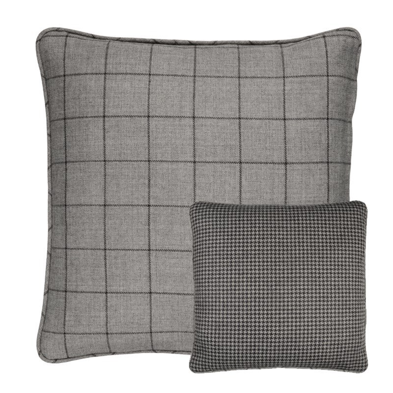 Housses de coussin en tweed Craigie et Sloane Square in Sloane Steel Square (SLQ201)
