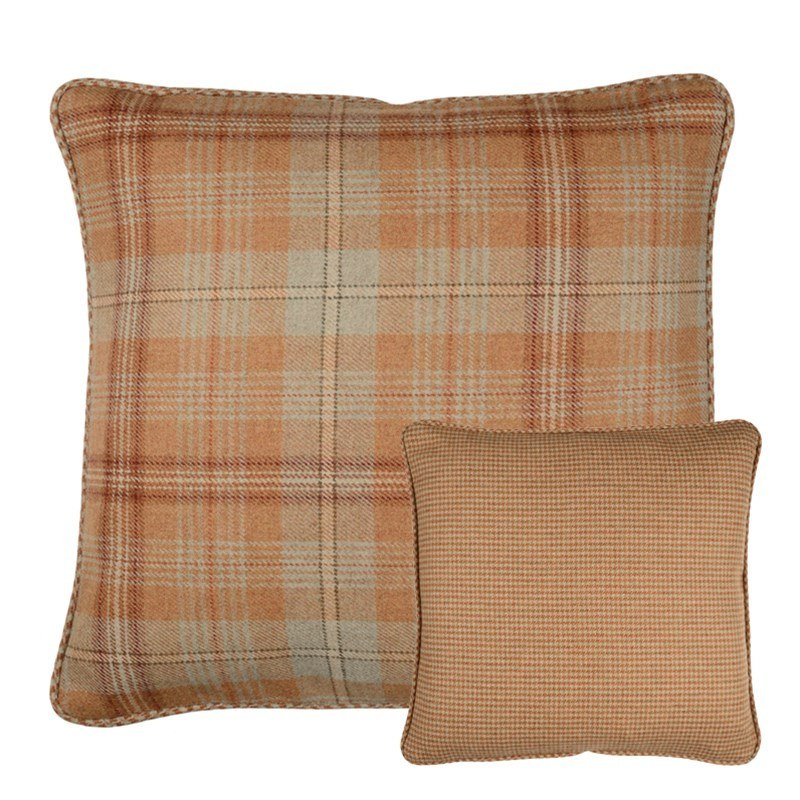Housses de coussin en tweed Craigie et Sloane Square in Craigie Harvest Plaid (CRG303)