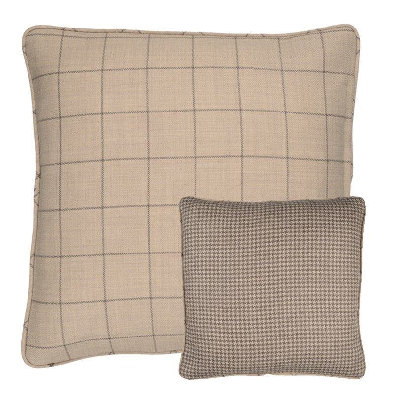 Craigie Hill and Sloane Square Reversible Tweed Cushion Covers