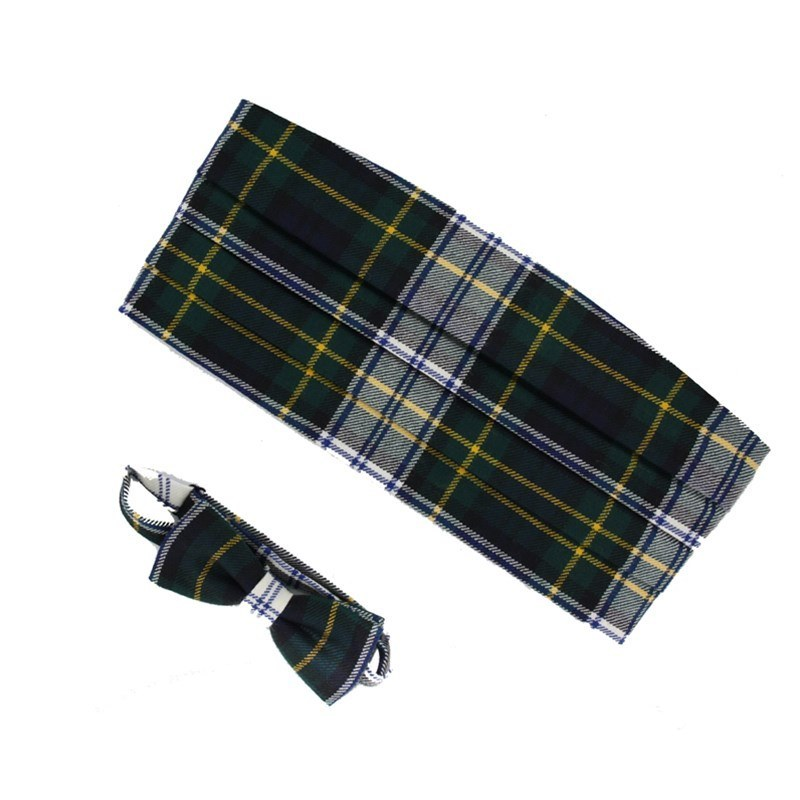 Wool Tartan Bow Tie & Cummerbund Set in Gordon Dress Modern