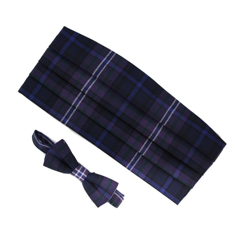 Wool Tartan Bow Tie & Cummerbund Set in Scotland Forever