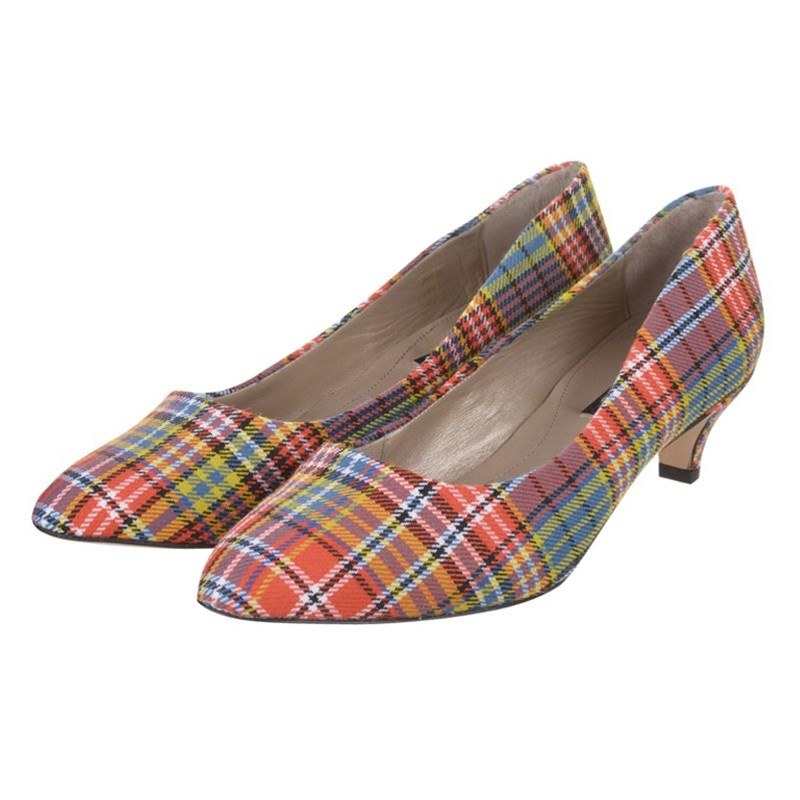 Plaid Kitten Heels