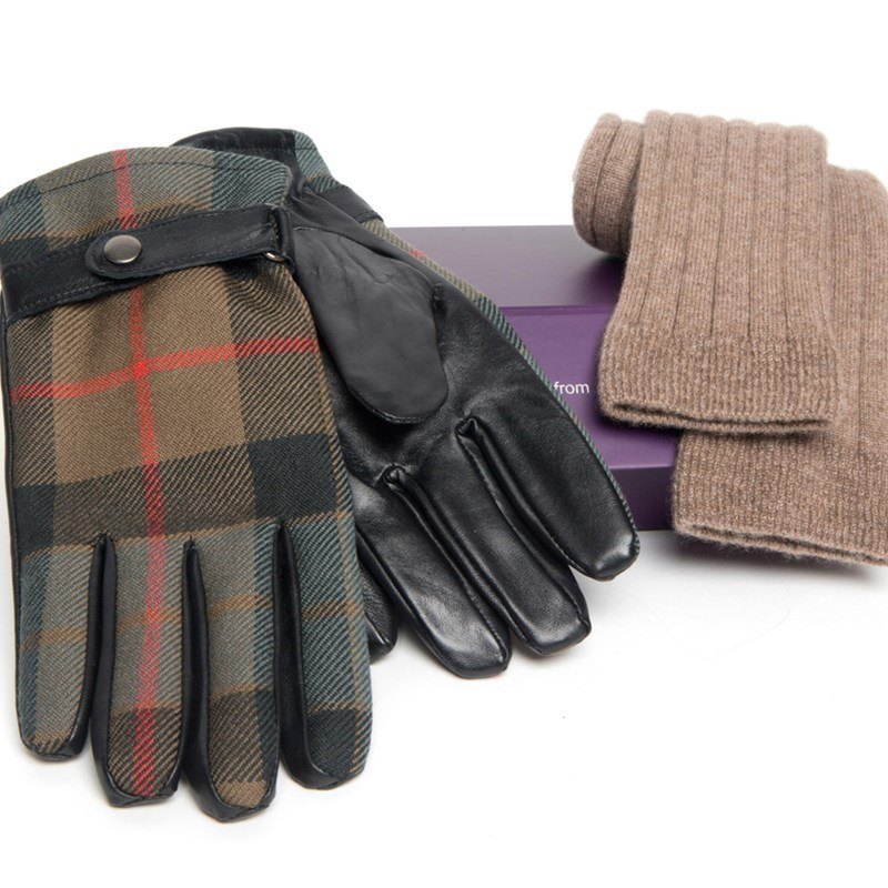 Men's Cashmere Socks and Leather Gloves Set in Gunn Weathered