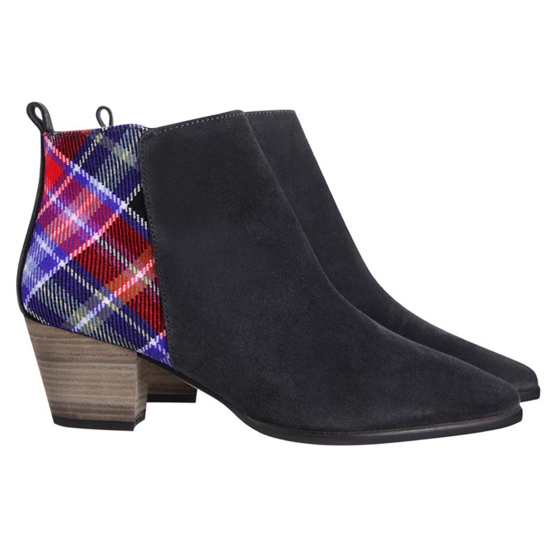 Limited Edition Suede & Aberdeen Plaid Boots