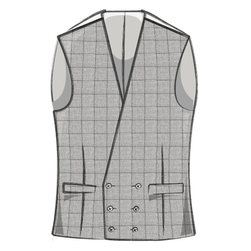 Men's Double Breasted Tweed Vest
