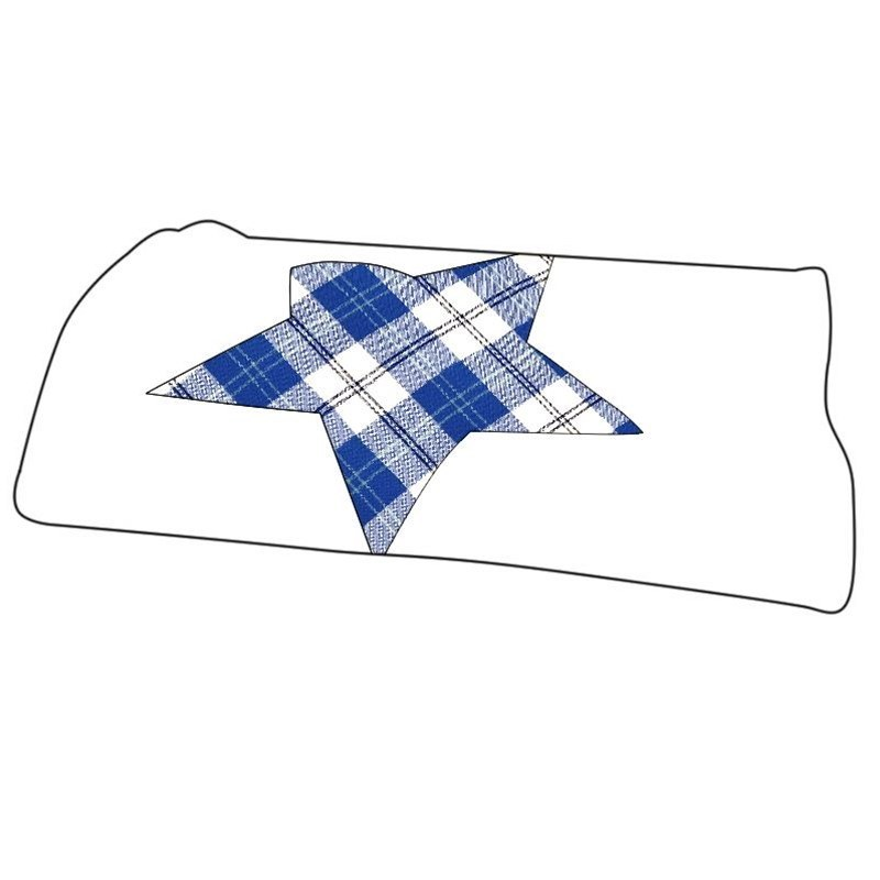 Manta de bebe en tartan in Ailsa Royal Blue BCH061