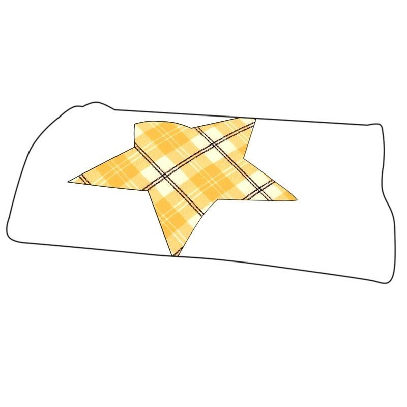 Manta de bebe en tartan in Ailsa Yellow BCH055