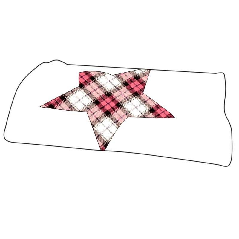 Tartan Star Baby Blanket in Sunart Pink BCH006