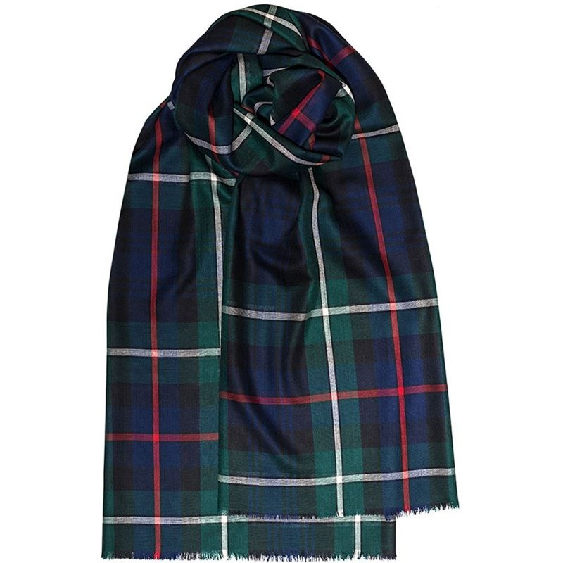 Spring Collection - Fine Wool Plaid Stole in MacKenzie Modern