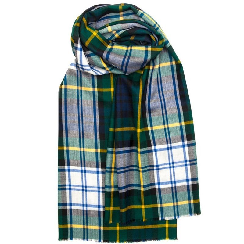 Spring Collection - Fine Wool Plaid Stole in Gordon Dress Modern