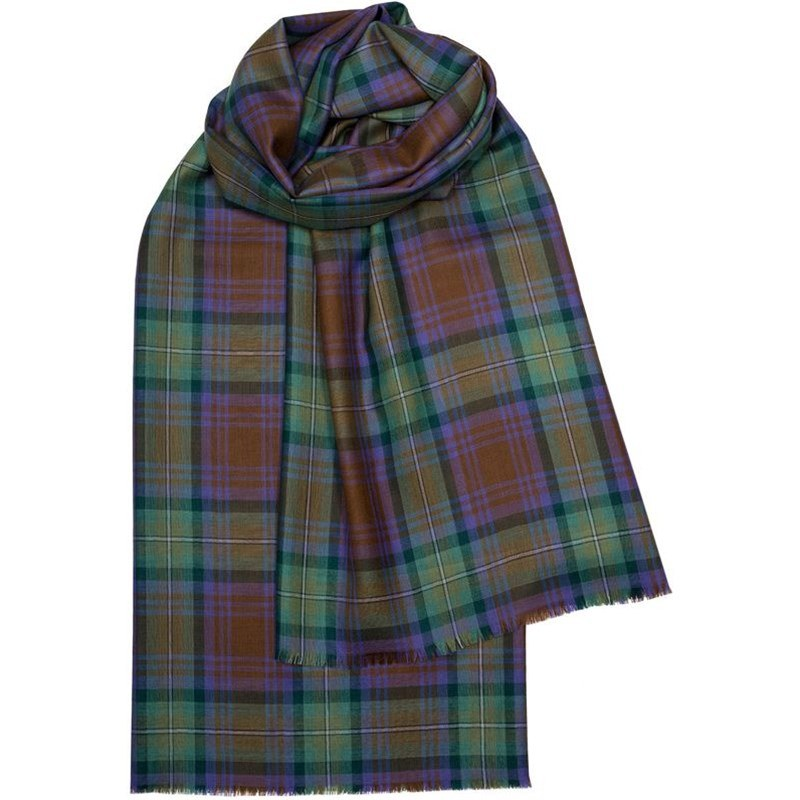 Spring Collection - Fine Wool Plaid Stole in Isle of Skye