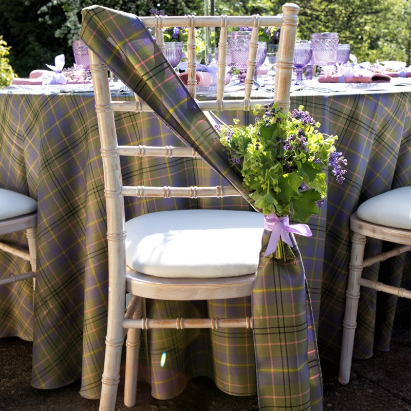Tartan Chair Sash Made To Order