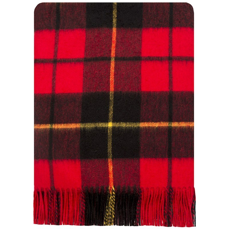 Brushed Wool Oversize Tartan Scarf in Wallace Modern