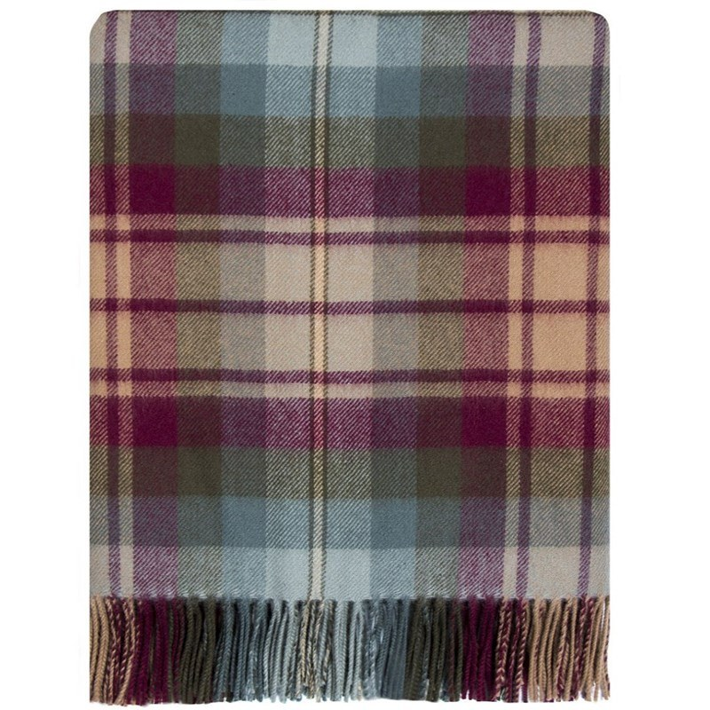 Brushed Wool Oversize Tartan Scarf in Auld Scotland