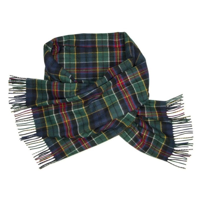 Brushed Wool Oversize Tartan Scarf in Allison Modern