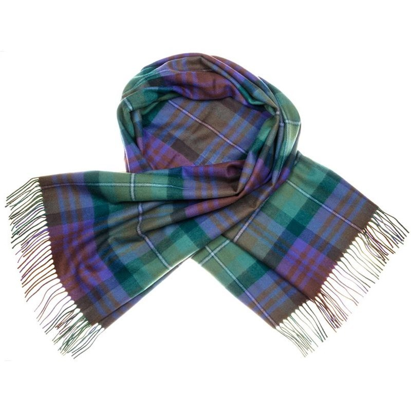 Brushed Wool Oversize Tartan Scarf in Isle of Skye