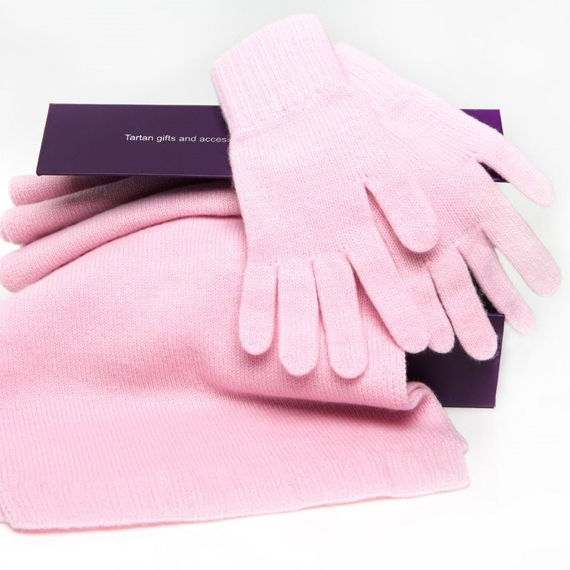Cashmere Scarf and Gloves Set - Gift Boxed