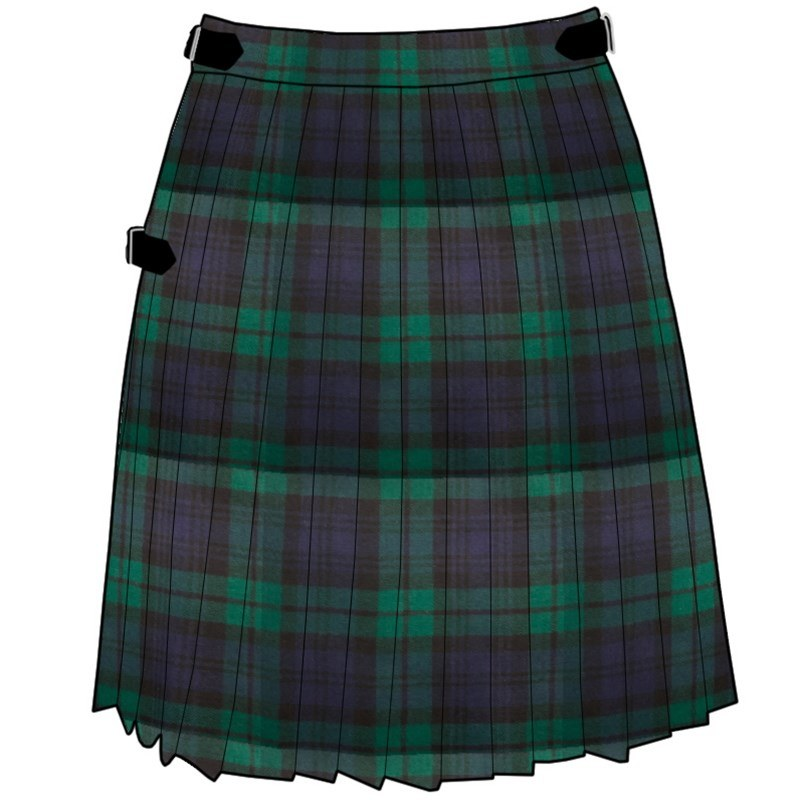 Tartan Mini Kilt in Black Watch Modern