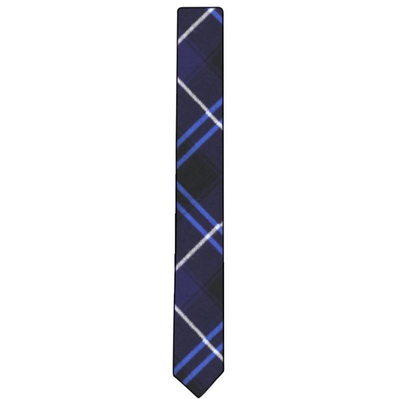 Skinny Wool Plaid Tie in Patriot Modern