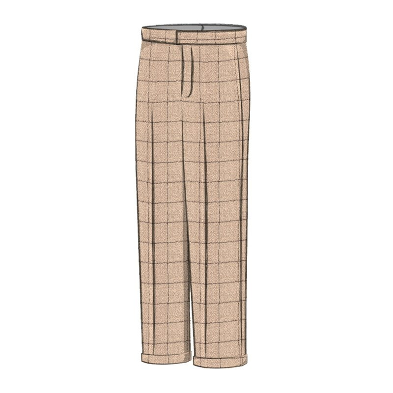 Pantalón Tweed Escocés