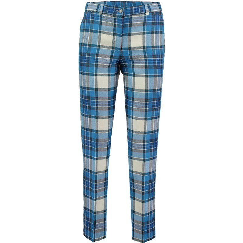 Women's Tartan Golf Trousers - Back